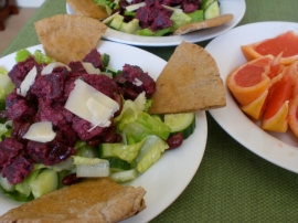 Salad With Garlic Walnut Beets